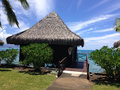 Resort in papeete live hotel when traveling of tahiti Royalty Free Stock Photography