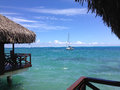 Resort in papeete live hotel when traveling of tahiti Stock Image