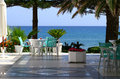 Resort patio Royalty Free Stock Photo