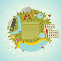 Resort planet vector illustration Royalty Free Stock Image