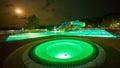 Resort pool at night Royalty Free Stock Photo