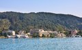Resort portschach lake worth worthersee aus am and austria Stock Images