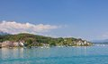 Resort portschach lake worth worthersee aus am and austria Royalty Free Stock Photography