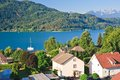 Resort portschach lake worthersee austria am and Royalty Free Stock Photos