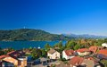 Resort portschach lake worthersee austria view of am and Stock Image