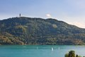 Resort portschach am worthersee and lake worth worthersee austria view of Stock Image