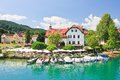 Resort reifnitz carinthia austria view of lake worth Royalty Free Stock Photo