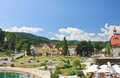 Resort reifnitz carinthia austria view of lake worth Royalty Free Stock Photos