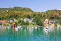Resort reifnitz lake worth carinthia austria view of Royalty Free Stock Photo