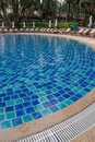 Resort swimming pool Royalty Free Stock Images