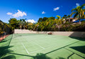Resort Tennis Court Royalty Free Stock Image