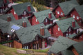 Resort town bukovel ski carpathian beautiful houses Royalty Free Stock Photo