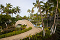 Resort Walkway and Bridge Royalty Free Stock Image