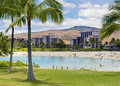 Resorts in koolina hawaii people swimming a lagoon outside of the Stock Images