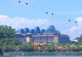 Resorts world sentosa singapore and hard rock hotel in Royalty Free Stock Image
