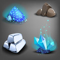 Resource icons for games. Royalty Free Stock Photo