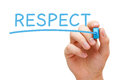 Respect Blue Marker Royalty Free Stock Photo