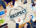 Respect honesty honorable regard integrity concept Stock Images