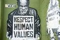Respect Human Values street art plead. Royalty Free Stock Photo