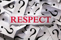 Respect questions about the too many question marks Stock Photo
