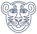 Respect Tiger Mask Stock Photography