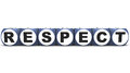 Respect word on white background made up of word blocks in d Royalty Free Stock Images