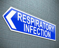 Respiratory infection concept illustration depicting a sign with a Royalty Free Stock Photo