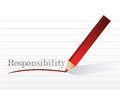 Responsibility message illustration design over a white paper Stock Photos