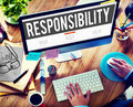 Responsibility Obligation Duty Roles Job Concept Royalty Free Stock Photo