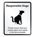 Responsible dogs Information Sign Royalty Free Stock Photo