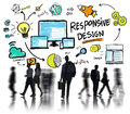 Responsive design internet web business people commuter concept Stock Images