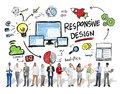 Responsive design internet web business technology concept people Royalty Free Stock Images