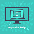 Responsive web design on different devices Stock Image