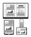 Responsive web design for different devices Royalty Free Stock Photo