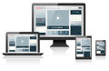 Responsive web design on different devices Royalty Free Stock Photo