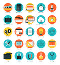 Responsive web design icons set flat modern style vector illustration concept of interface website analytics search engine Stock Photo