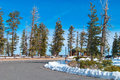 Rest area rainbow point at the bryce canyon national park utah usa Royalty Free Stock Images