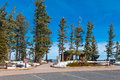 Rest area rainbow point at the bryce canyon national park utah usa Royalty Free Stock Photography