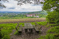 Rest area with view to sankt wendel bench Stock Photos