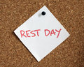 Rest day reminder Royalty Free Stock Photo
