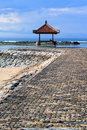 Rest houses at sanur beach on bali indonezia Stock Photos