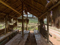 Rest hut in tropical farm Royalty Free Stock Photo