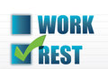 Rest over work check mark selection Stock Photo