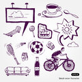 Rest and vacation icons set Stock Photography