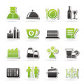Restaurant cafe and bar icons vector icon set Stock Images