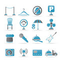 Restaurant, cafe, bar and night club icons Stock Photo