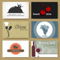 Restaurant cards Royalty Free Stock Photos