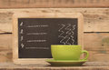 Restaurant chalkboard menu Stock Photos