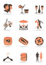 Restaurant and club icons Royalty Free Stock Photography