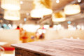 Restaurant and Coffee shop blurred background with bokeh Royalty Free Stock Photo